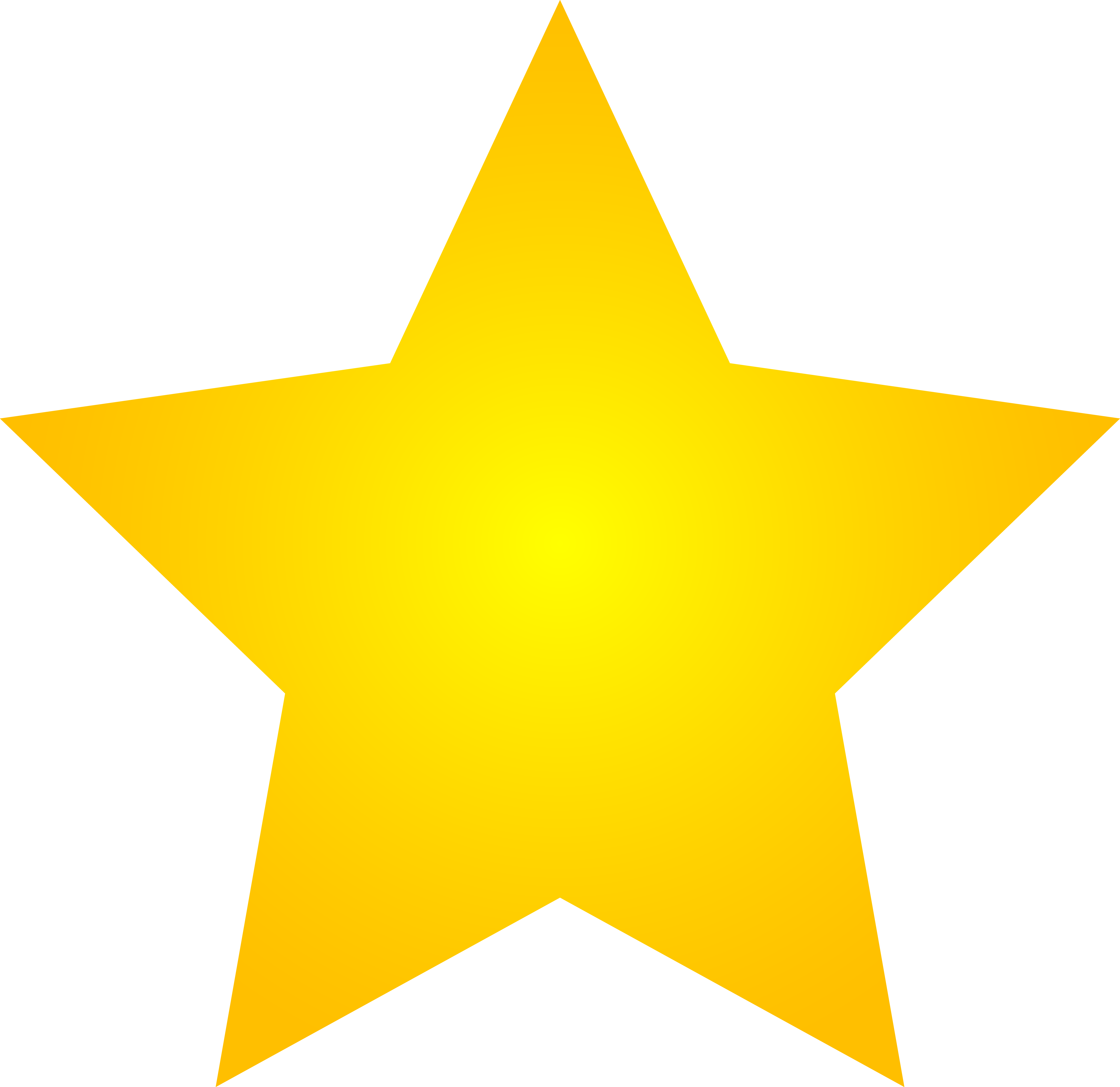 Yellow star clipart no background.