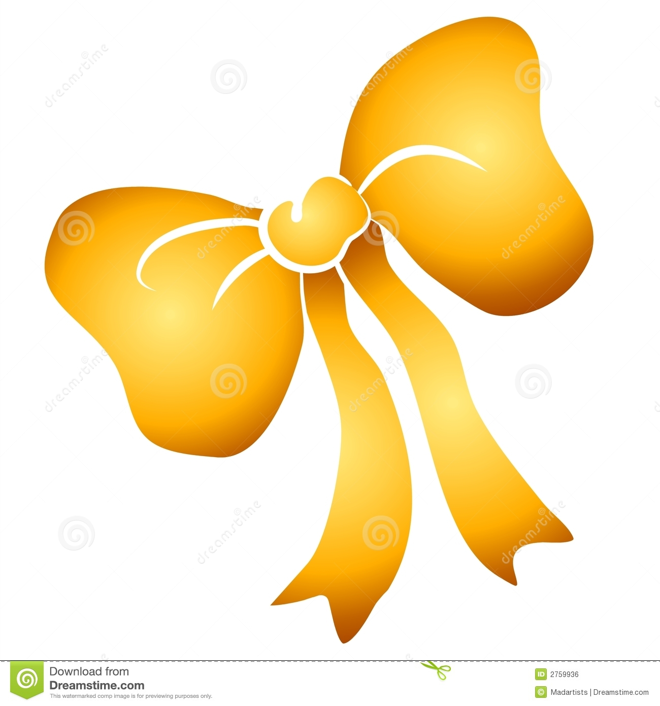 Gold Bow Clipart.