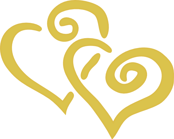 Gold Hearts Clip Art at Clker.com.