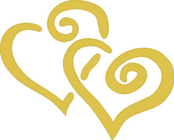 Gold Hearts Clip Art at Clker.com.