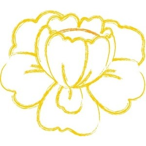Gold yellow flowers clipart #20