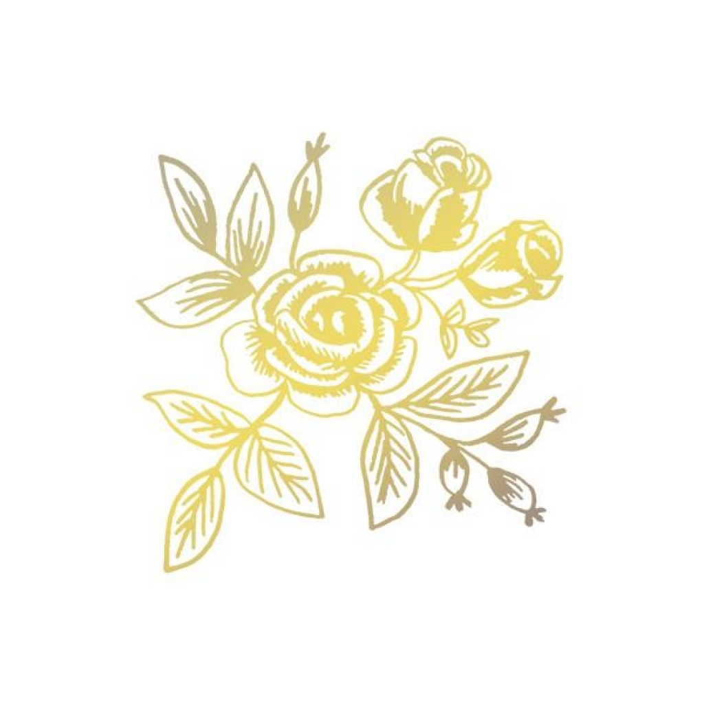 Gold flower clipart.