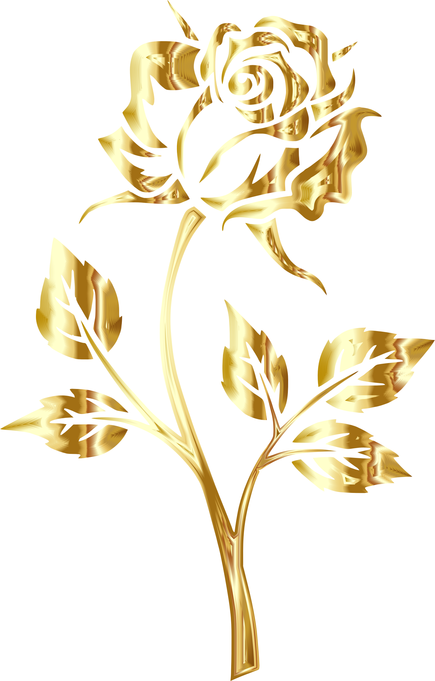 Gold yellow flowers clipart #7