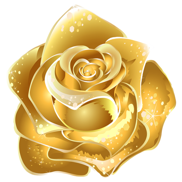 Gold yellow flowers clipart #8