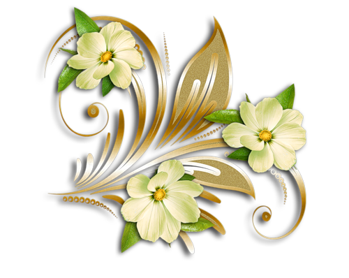 Gold yellow flowers clipart #18