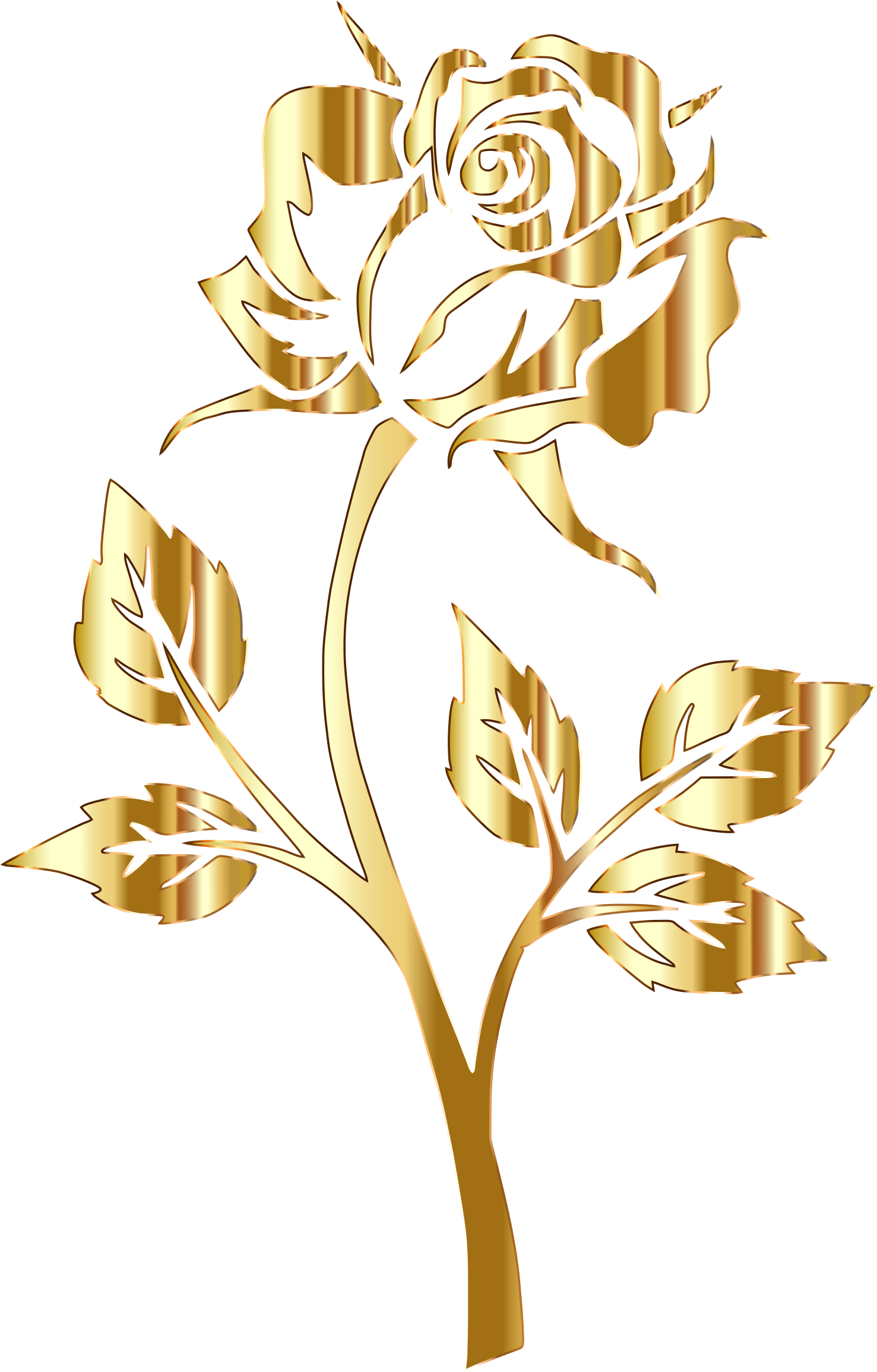 Gold yellow flowers clipart #12