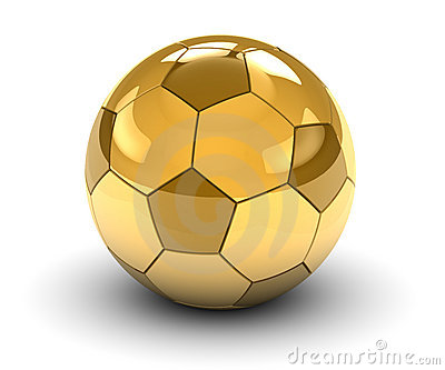 Golden Soccerball Stock Illustrations.