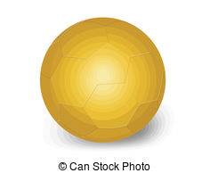 Vector of Golden Ball Soccer Trophy Champion. Editable Vector.