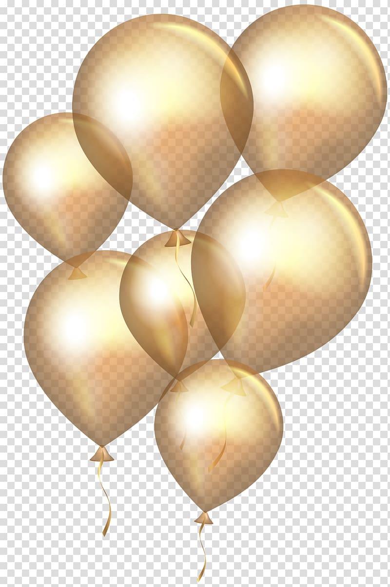 Gold balloons illustration, Balloon, Gold Balloons.
