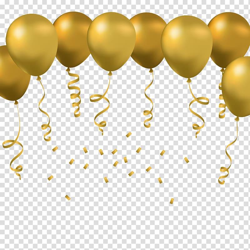 Toy balloon Euclidean , golden Balloon, yellow balloons.