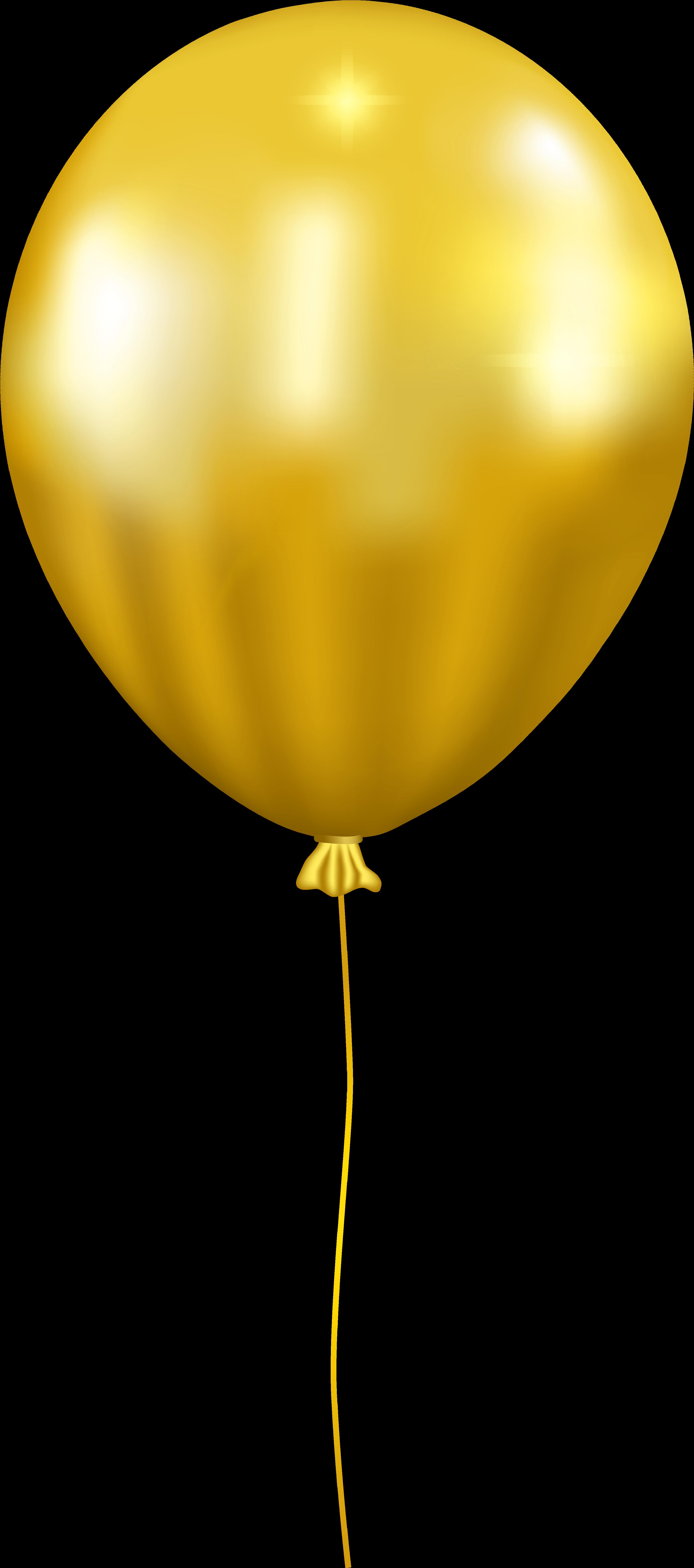 HD Balloons Png Golden.