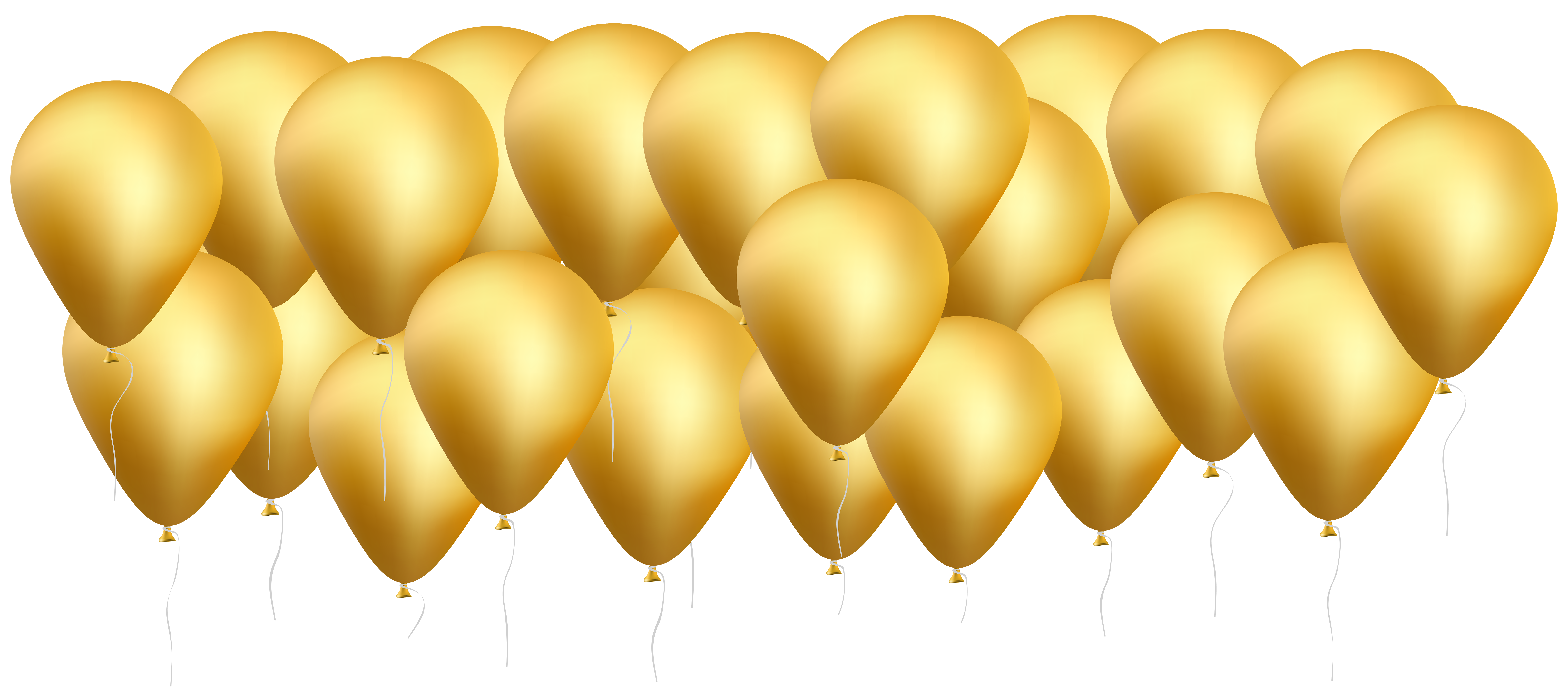 Gold Balloons PNG Clip Art Image.