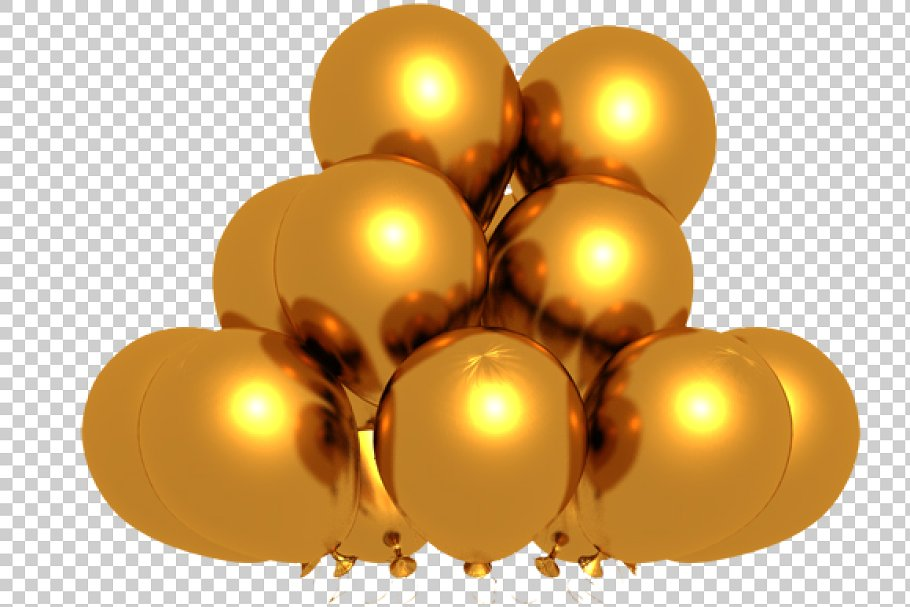 Golden Balloons.