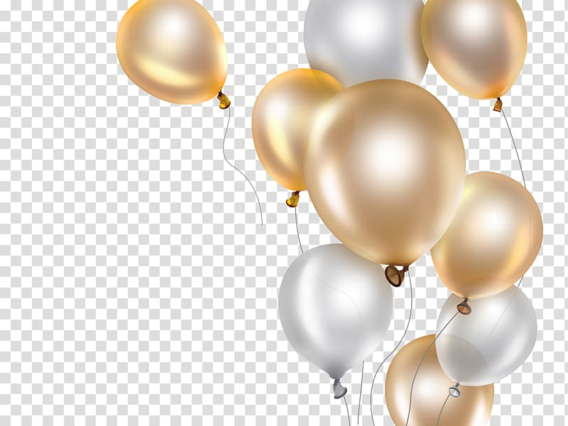 Balloon Gold, balloon transparent background PNG clipart.