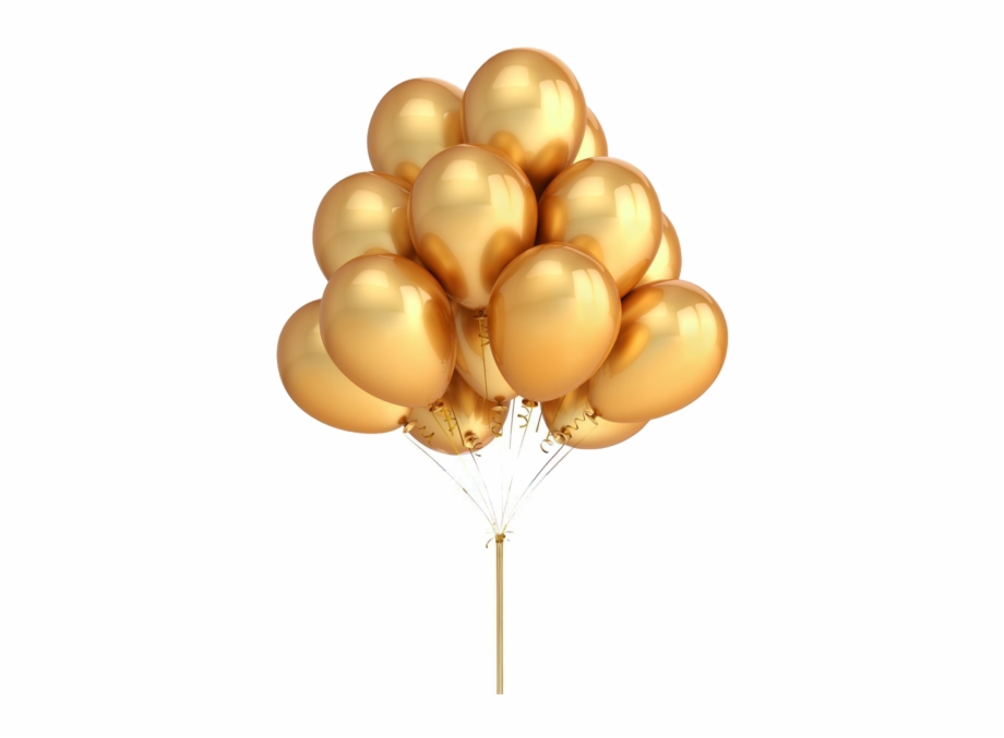 Gold Color Balloons, Transparent Png Download For Free #400028.