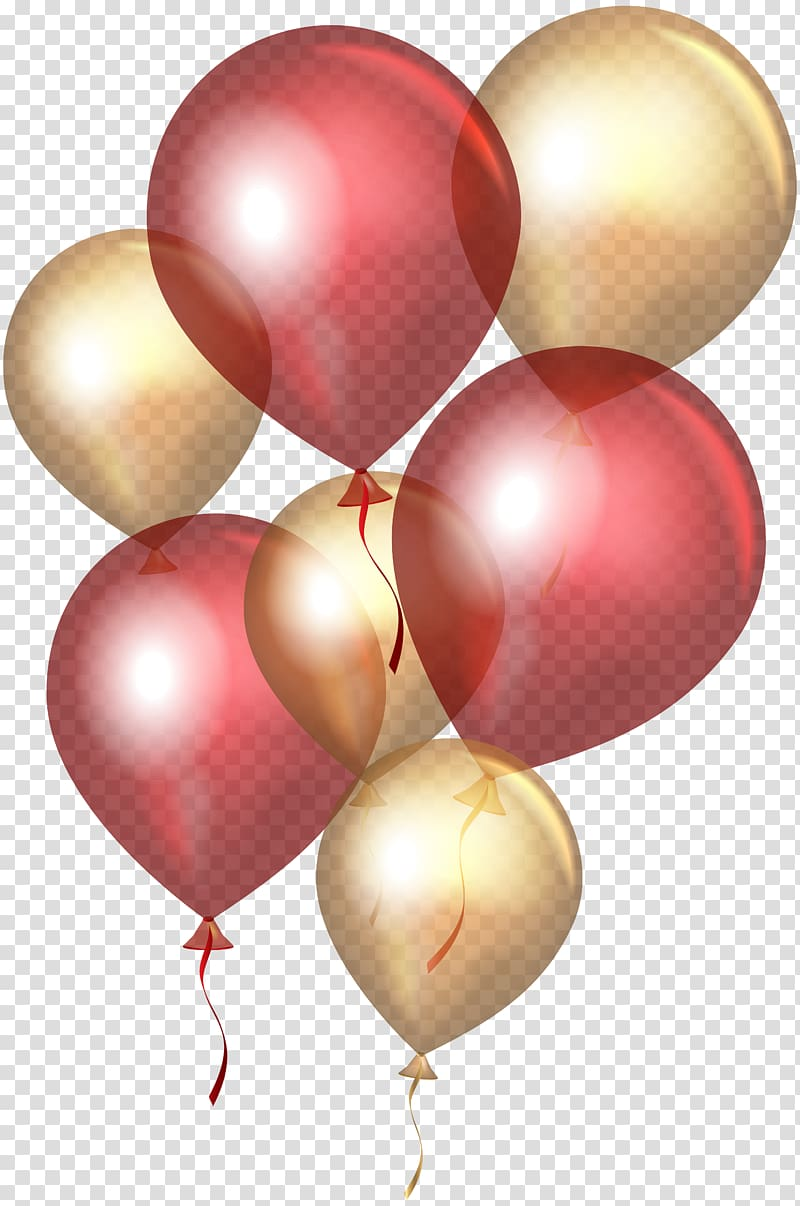 Maroon and gold balloon illustration, Balloon Gold , Red Gold.