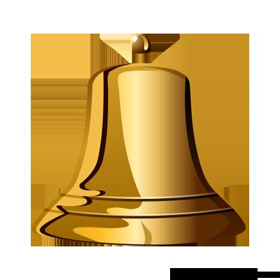 Golden Bell PNG.