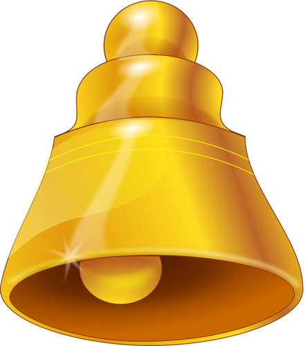 Vector graphics of golden bell symbol.