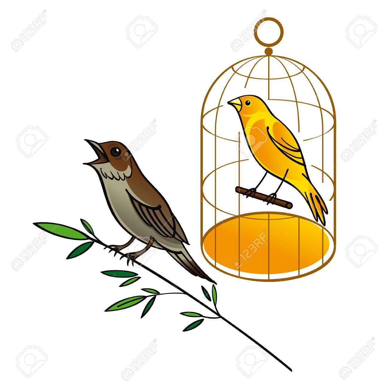 Nightingale bird clipart.