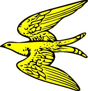 Flying Yellow Bird Clip Art at Clker.com.