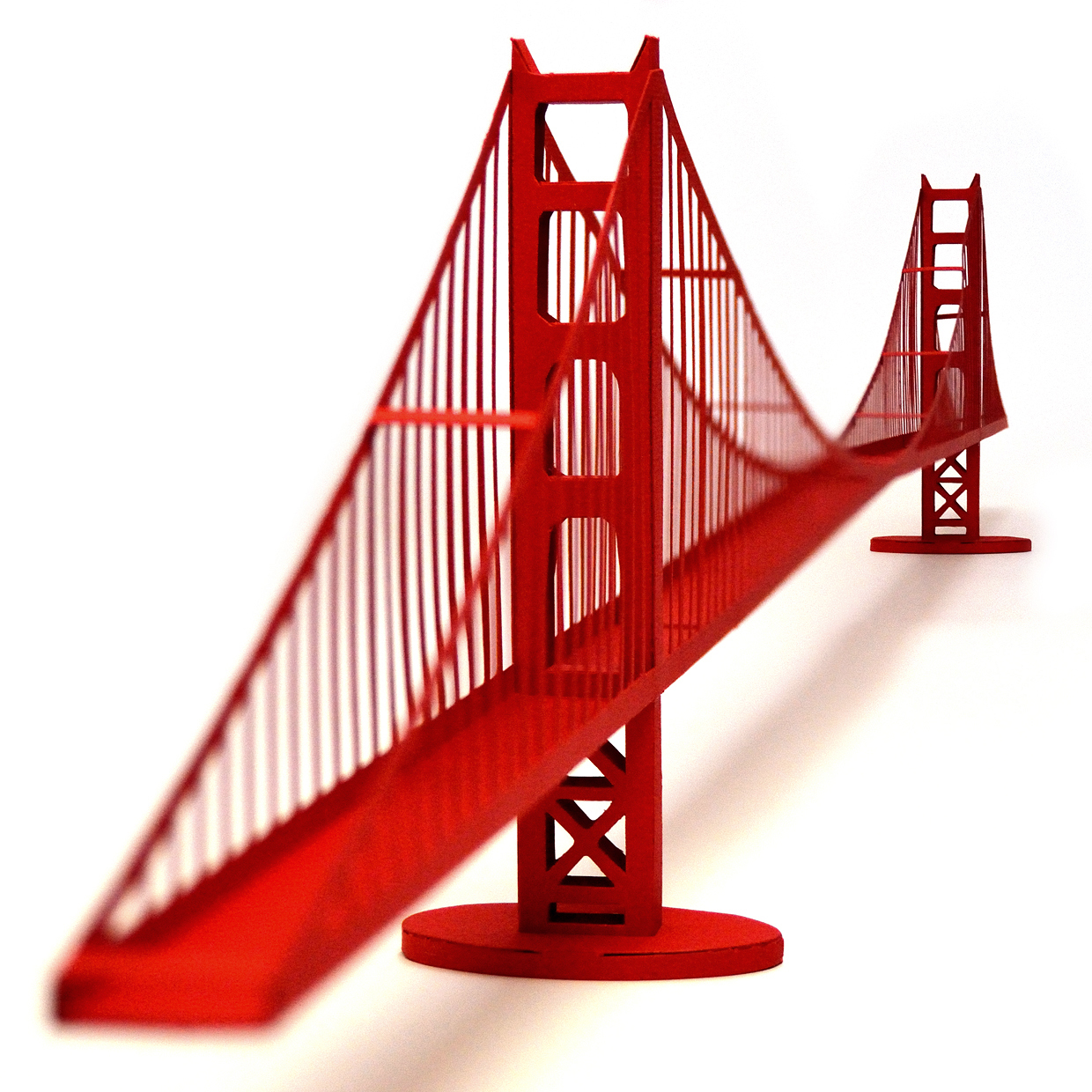 Golden gate bridge icon clipart.