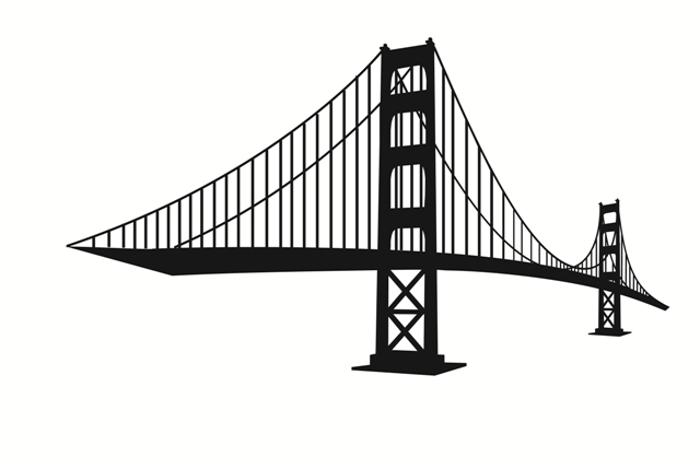 San francisco golden gate bridge clipart.