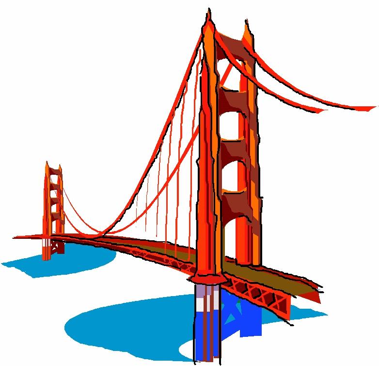 Golden bridge clipart