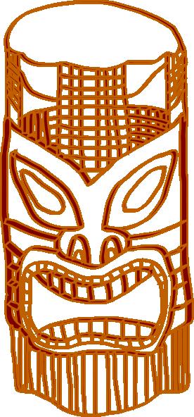 Tiki Golden Brown Clip Art, Tiki Free Clipart.