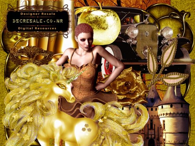 Golden Brown Vintage Scrapbook transparent commercial use resale.