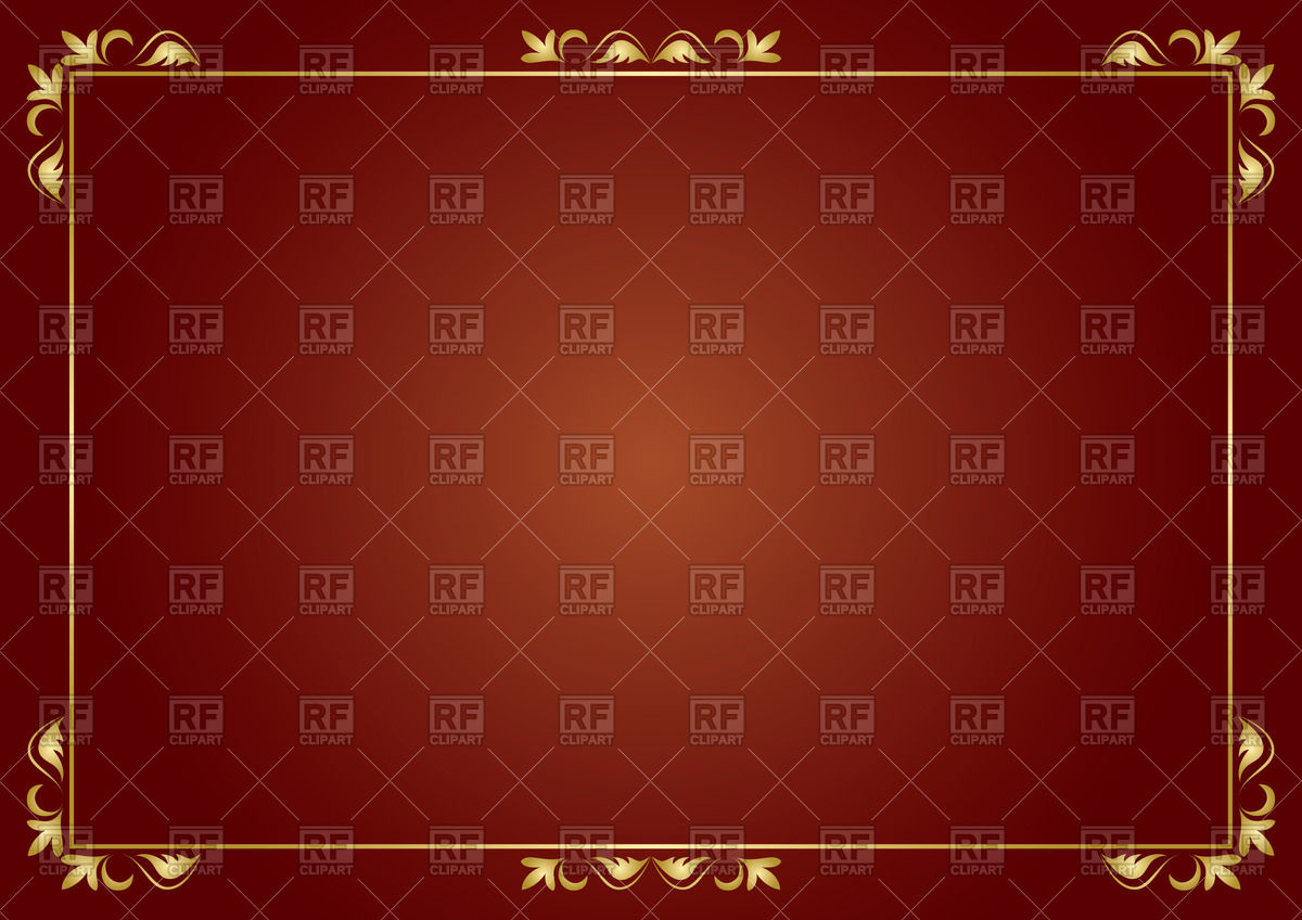 Thin golden frame on brown background Vector Image #65344.