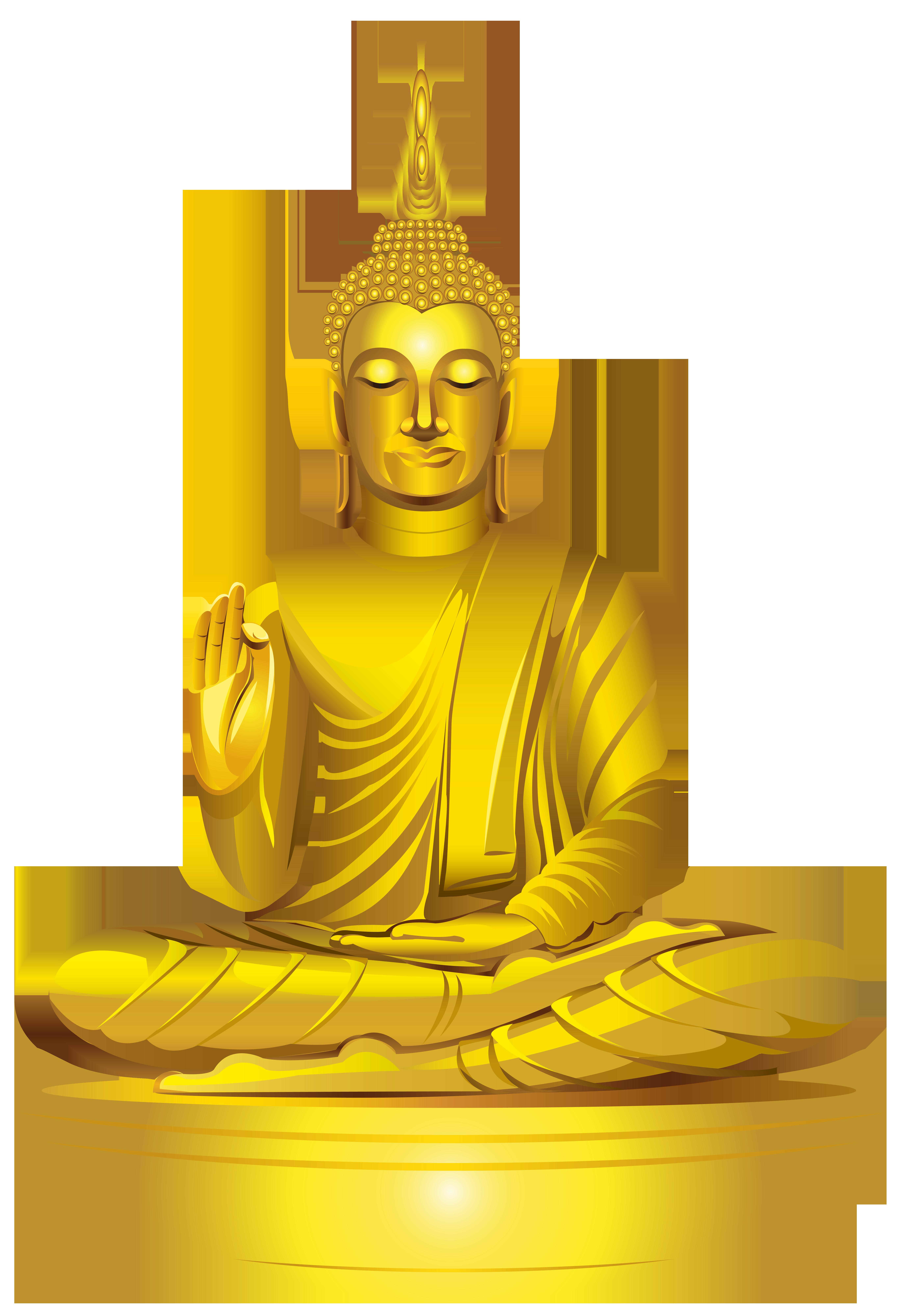 Golden Buddha Statue PNG Clip Art.