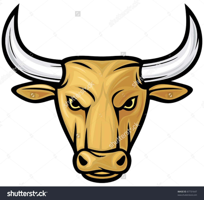 Рисунок быка морда