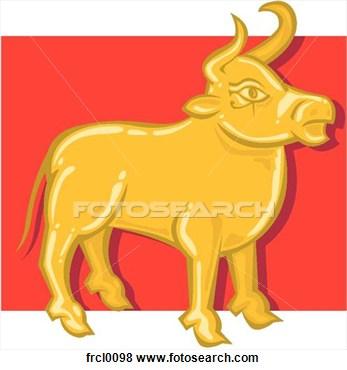 Golden calf clipart.
