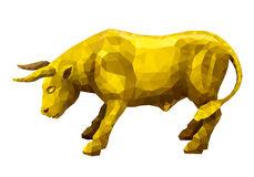 Bull Polygonal Animal. Vector Cow Illustration For Wallpaper And.
