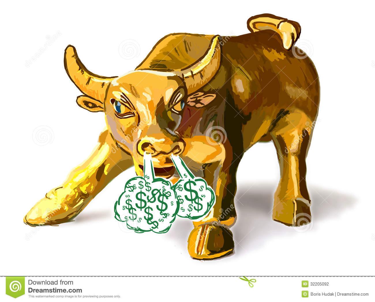 Golden Bull Stock Photography.