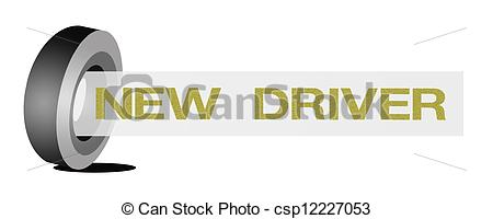 Stock Illustrations of Car Wheel with Golden Color of Student.