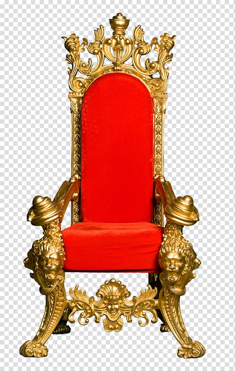 Brown wooden throne, Lion Throne Chair , throne transparent.
