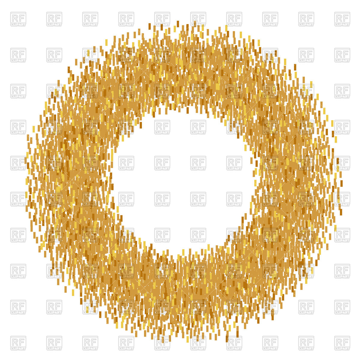 Abstract circle golden frame Vector Image #94582.