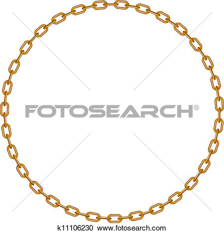 Clipart of Gold circle chains k8479771.