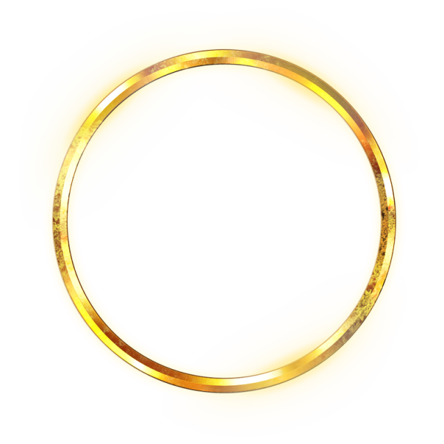 Golden Circle, Gold, Bright, Light Spot PNG Transparent Clipart.