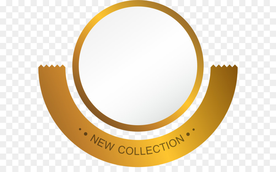 Circle Gold png download.