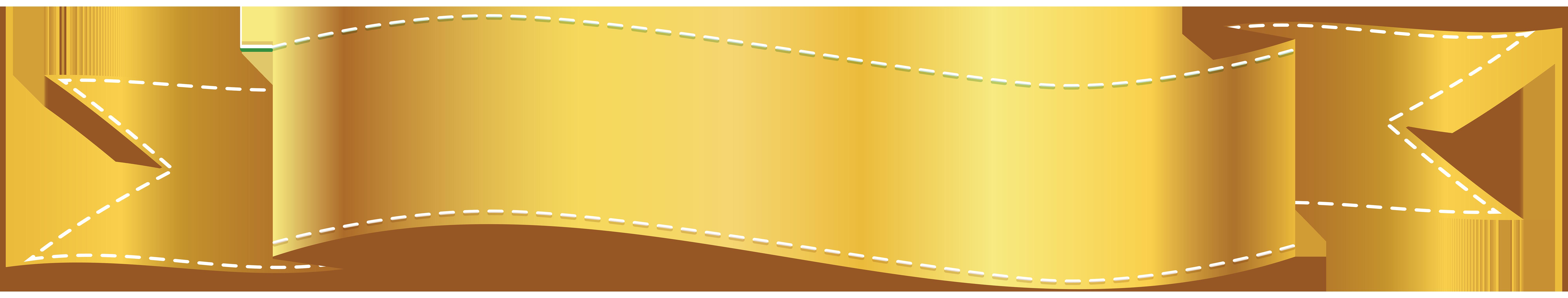 Golden Banner PNG Clip Art Image.
