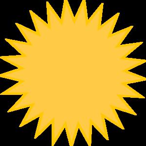 Golden Sun Yellow Clip Art at Clker.com.