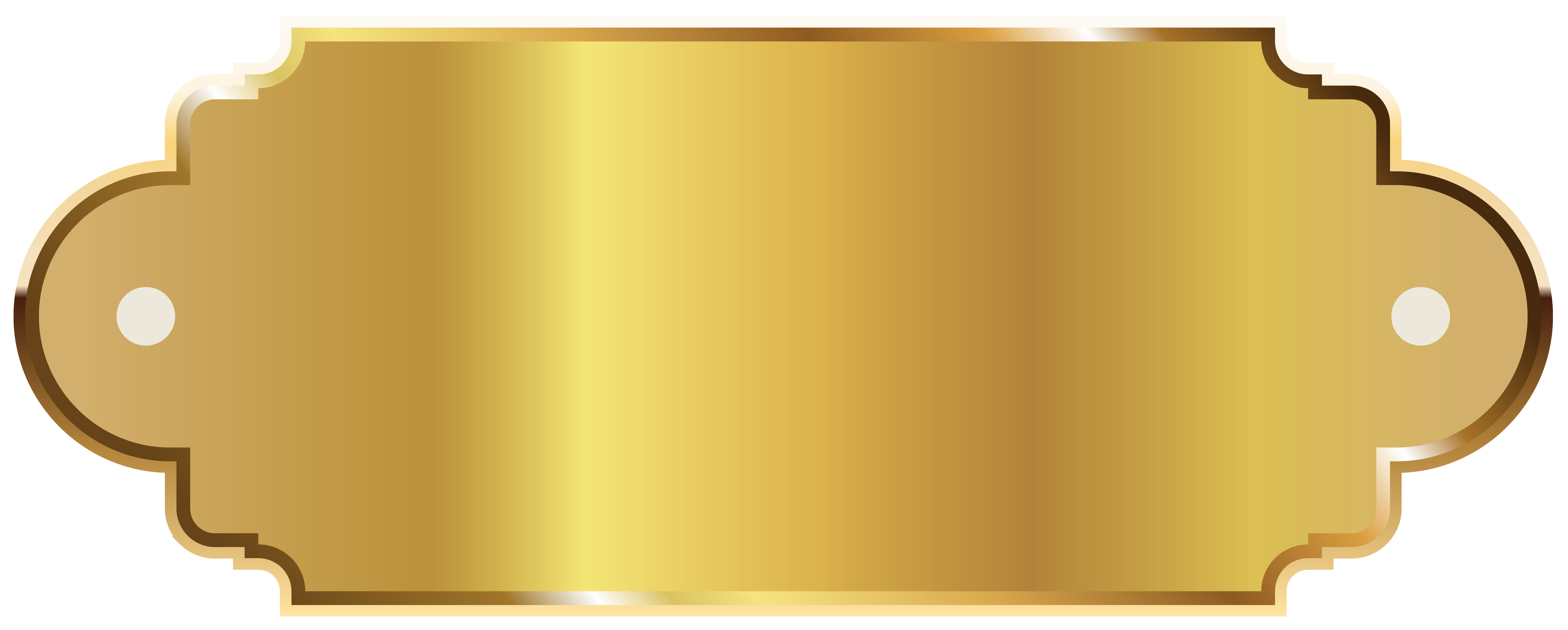 Golden Label Template Clipart PNG Image.