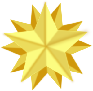 Golden Star Clipart.