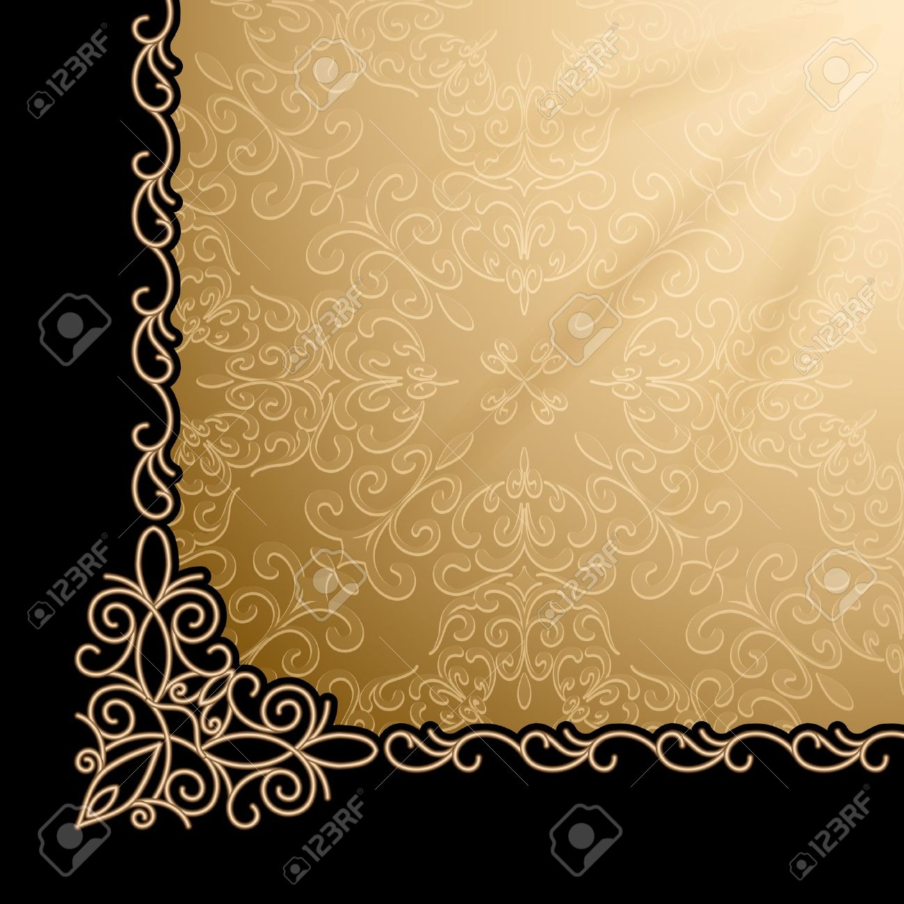 Gold page background clipart.