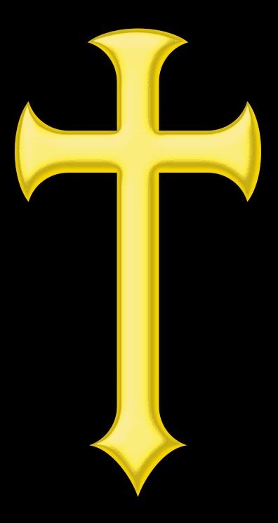 Free Golden Cross Clip Art.
