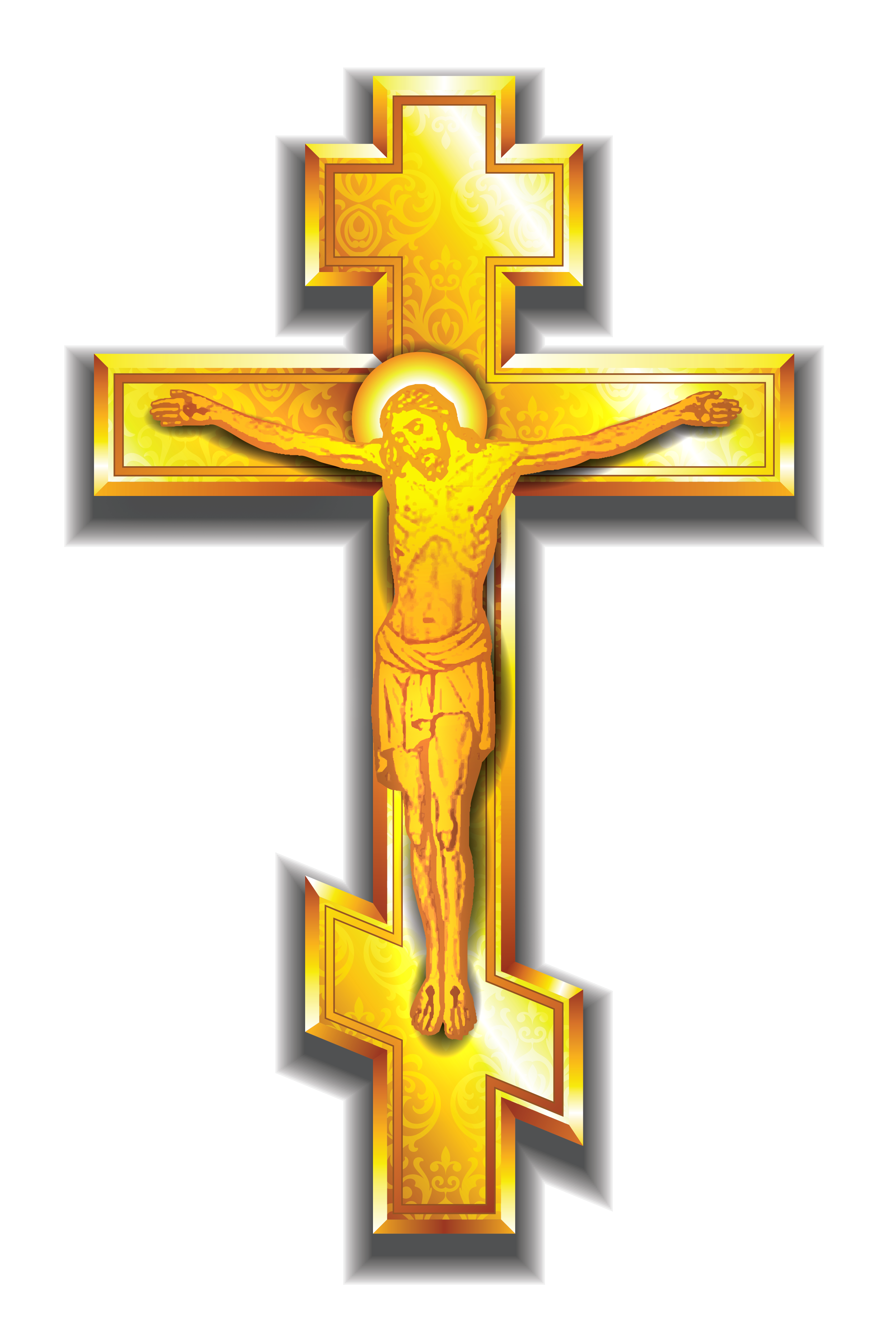 Gold Cross PNG Clipart Picture.