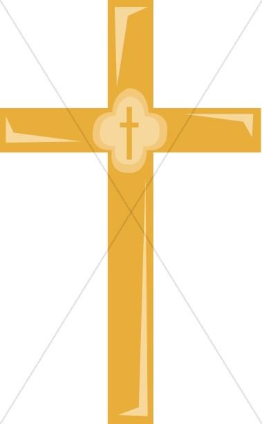 Golden Cross Clipart.