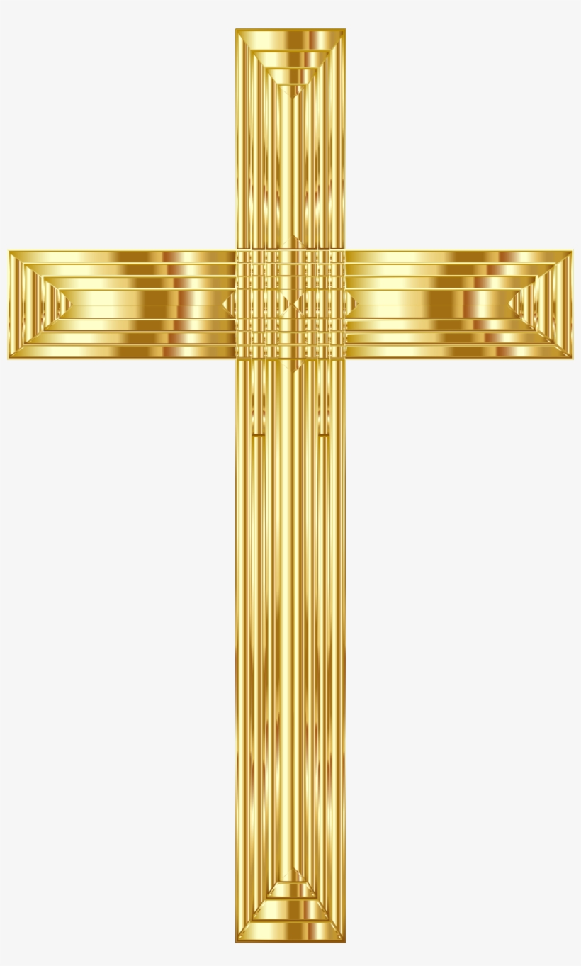 This Free Icons Png Design Of Golden Cross Variation.